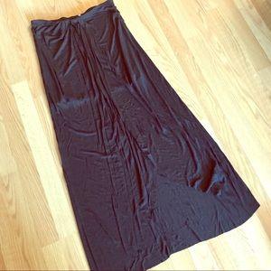 Free People--black maxi skirt